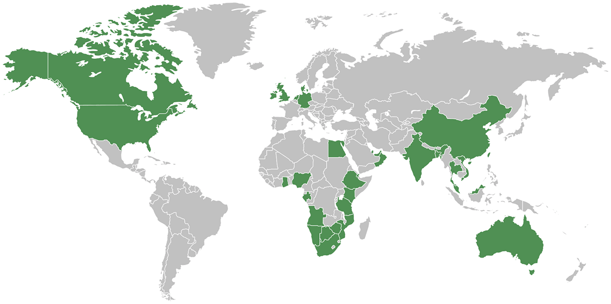 EPCM projects map